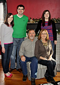 My family. My biggest cheerleaders.